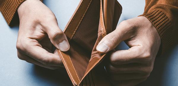金欠な人の財布